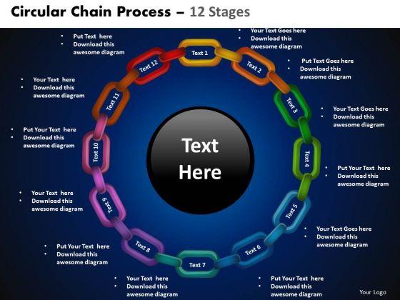 PowerPoint Presentation Circle Chart Circular Chain Ppt Theme