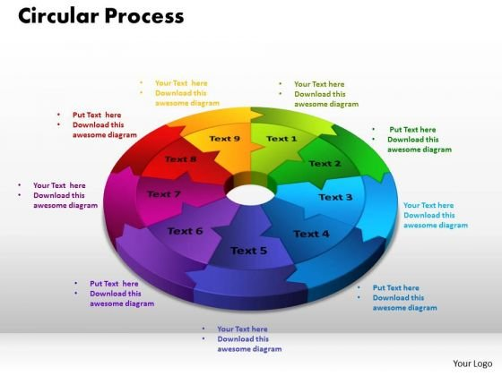 PowerPoint Presentation Circular Process Graphic Ppt Theme