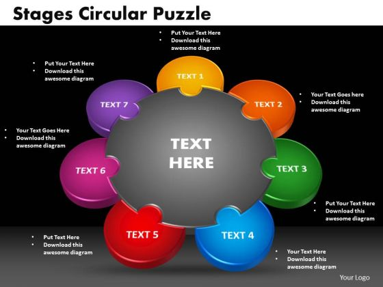 PowerPoint Presentation Circular Puzzle Business Ppt Backgrounds