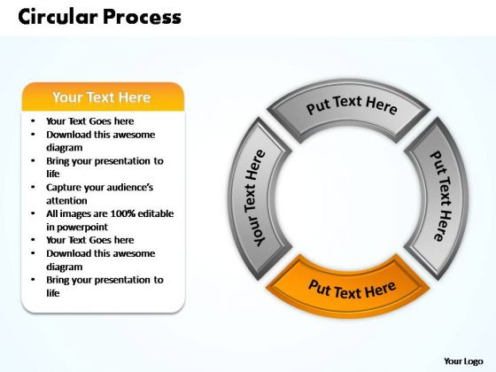 PowerPoint Presentation Company Circular Process Ppt Template