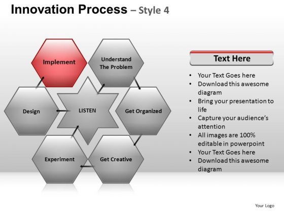 PowerPoint Presentation Company Hexagon Chart Ppt Slides