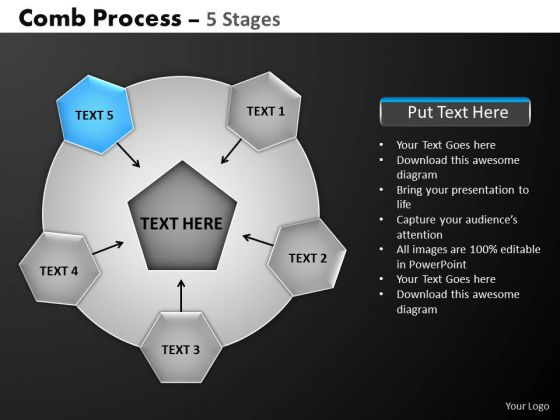 PowerPoint Presentation Company Hub And Spokes Process Ppt Template