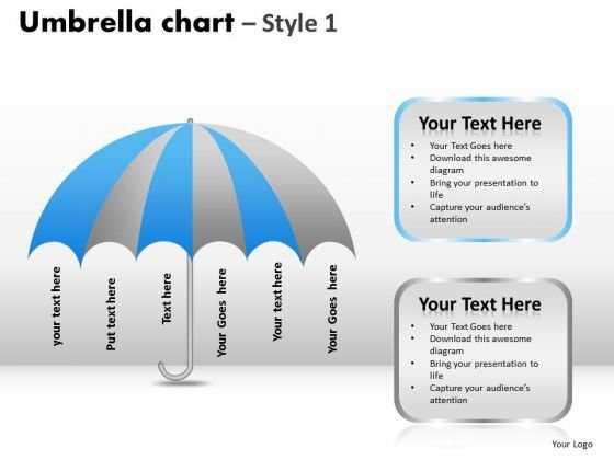PowerPoint Presentation Company Umbrella Chart Ppt Themes