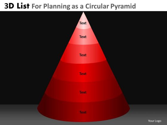 PowerPoint Presentation Corporate Growth 3d Pyramid List Ppt Presentation Designs