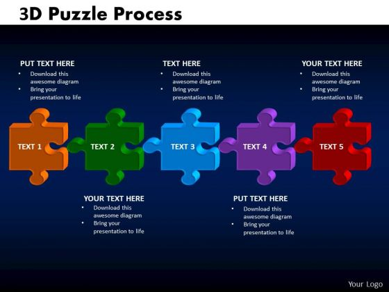 PowerPoint Presentation Cycle Chart Puzzle Process Ppt Slide