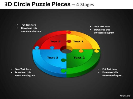 PowerPoint Presentation Cycle Process Circle Puzzle Diagram Ppt Process