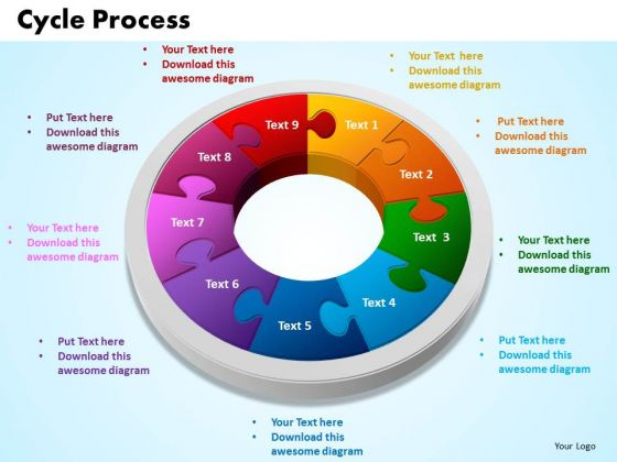 PowerPoint Presentation Cycle Process Growth Ppt Backgrounds