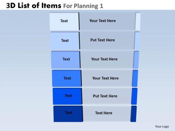 PowerPoint Presentation Designs Business Competition Goals 3d List Ppt Templates