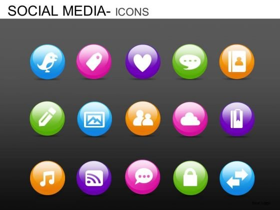 PowerPoint Presentation Designs Business Strategy Social Media Icons Ppt Templates