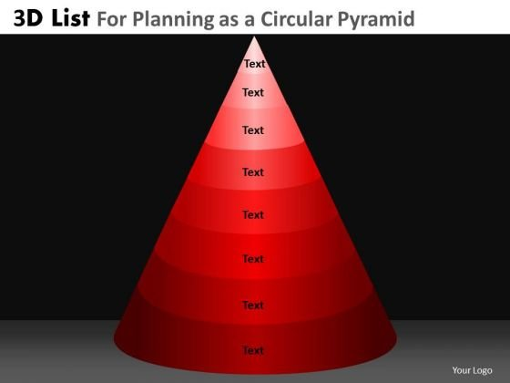 PowerPoint Presentation Designs Business Strategy Vision 3d Pyramid List Ppt Slide