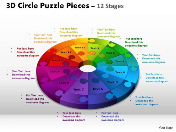 PowerPoint Presentation Designs Chart Circle Puzzle Ppt Layout