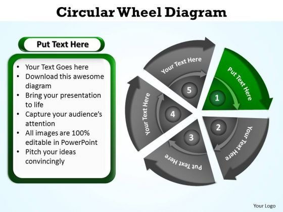 PowerPoint Presentation Designs Chart Circular Wheel Ppt Design