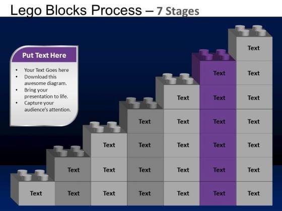 PowerPoint Presentation Designs Chart Lego Blocks Ppt Layout