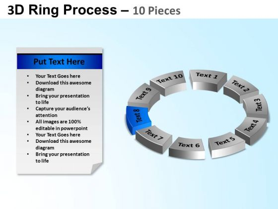 PowerPoint Presentation Designs Chart Ring Process Ppt Slide