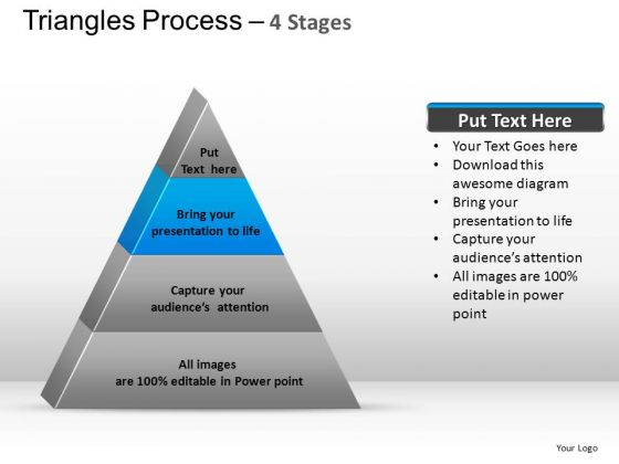 PowerPoint Presentation Designs Chart Triangle Process Ppt Slide
