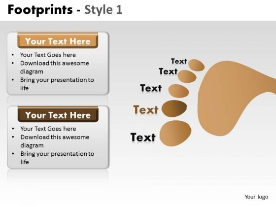PowerPoint Presentation Designs Company Footprints Ppt Process