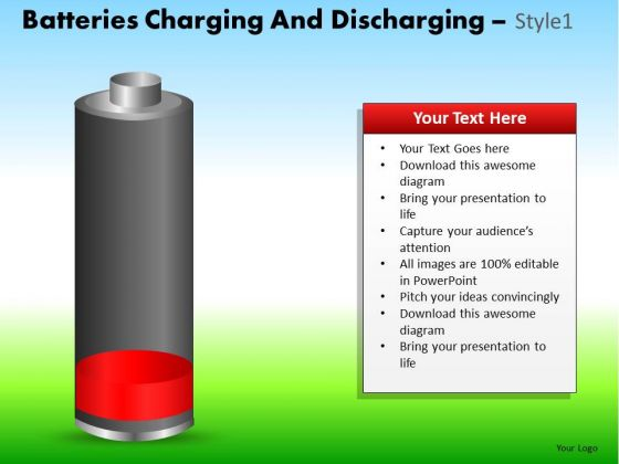 PowerPoint Presentation Designs Company Growth Batteries Charging Ppt Slide