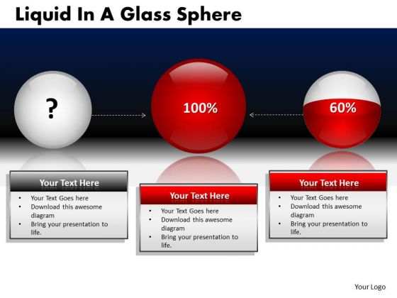 PowerPoint Presentation Designs Company Leadership Liquid In A Glass Sphere Ppt Slides
