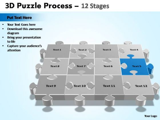 PowerPoint Presentation Designs Company Puzzle Process Ppt Slide Designs