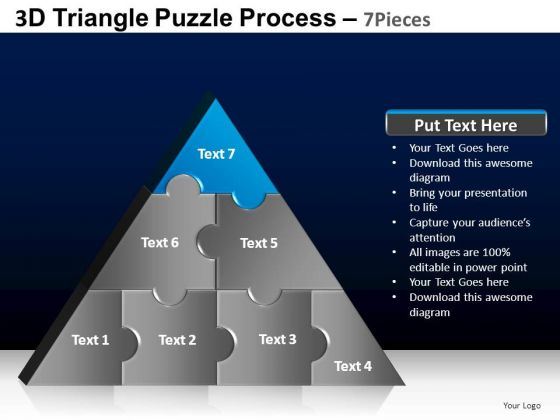 PowerPoint Presentation Designs Company Triangle Puzzle Ppt Template