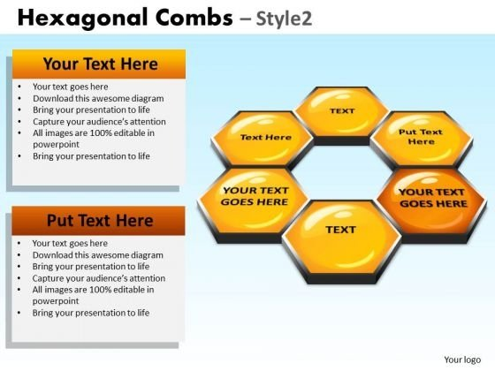 PowerPoint Presentation Designs Corporate Designs Hexagonal Combs Ppt Layouts