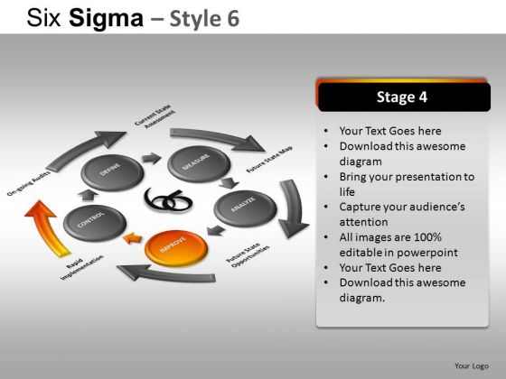 PowerPoint Presentation Designs Corporate Growth Six Sigma Ppt Slide