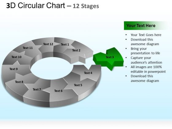 PowerPoint Presentation Designs Diagram Circular Ppt Template