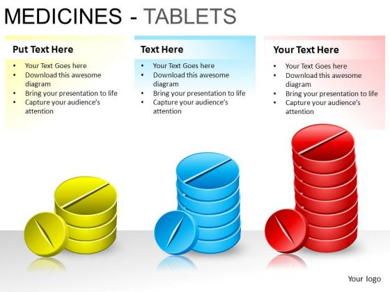 PowerPoint Presentation Designs Diagram Medicine Tablets Ppt Layout