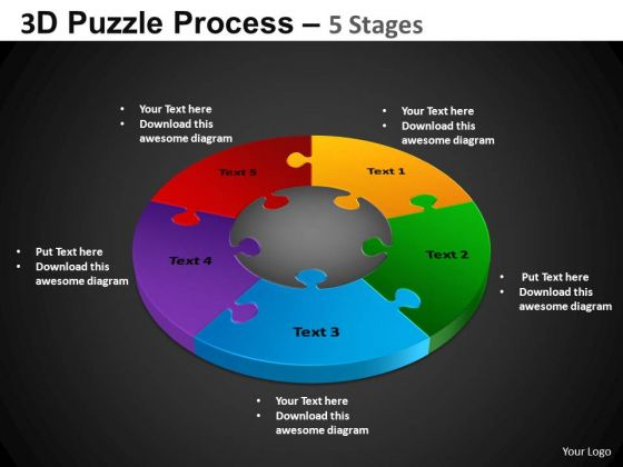 PowerPoint Presentation Designs Download Pie Chart Puzzle Process Ppt Backgrounds