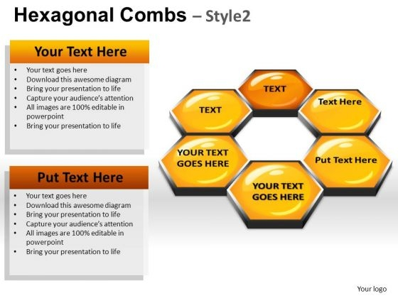 PowerPoint Presentation Designs Education Hexagonal Combs Ppt Themes