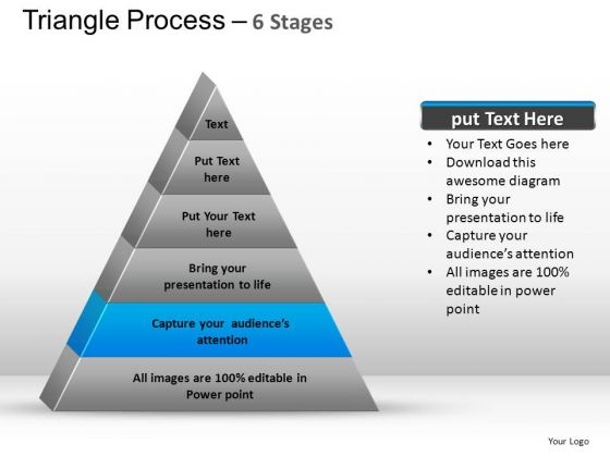 PowerPoint Presentation Designs Global Triangle Process Ppt Slide