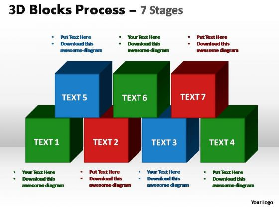 PowerPoint Presentation Designs Graphic Blocks Process Ppt Theme