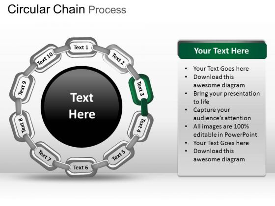 PowerPoint Presentation Designs Graphic Circular Chain Ppt Slide