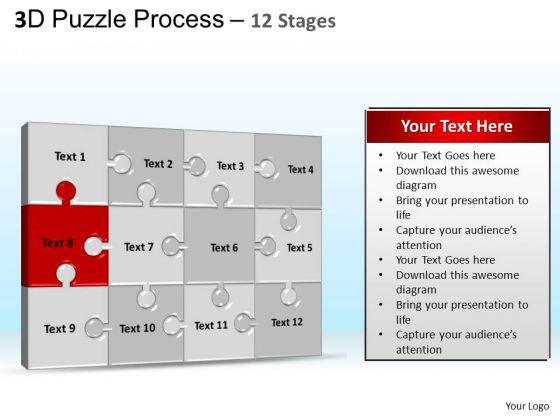 PowerPoint Presentation Designs Graphic Puzzle Process Ppt Slides