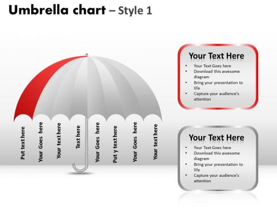 PowerPoint Presentation Designs Graphic Umbrella Chart Ppt Slides