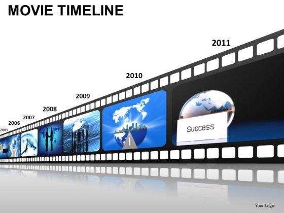 PowerPoint Presentation Designs Growth Movie Timeline Ppt Backgrounds
