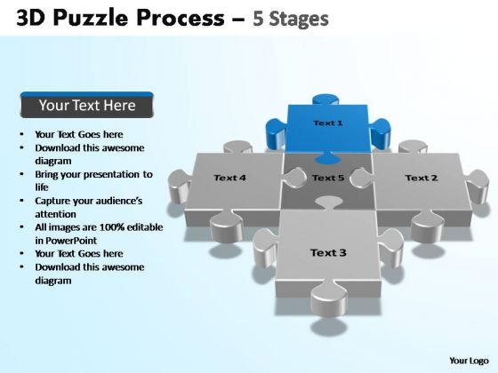 PowerPoint Presentation Designs Growth Puzzle Process Ppt Template