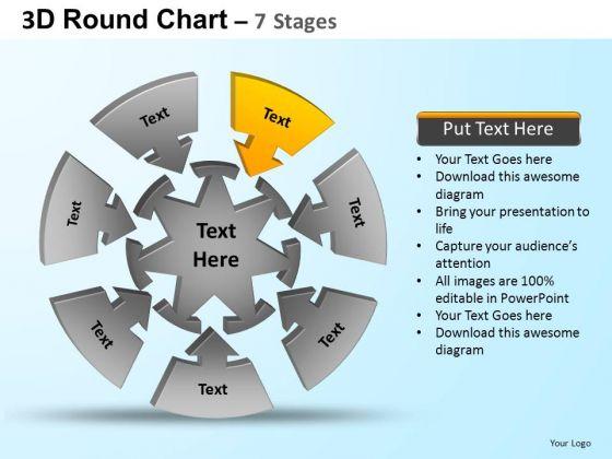 PowerPoint Presentation Designs Growth Round Process Flow Chart Ppt Slide