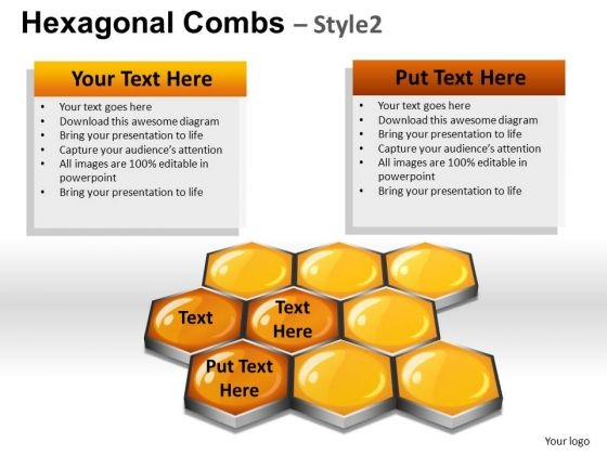 PowerPoint Presentation Designs Hexagonal Combs Diagram Ppt Design