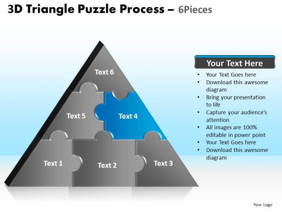 PowerPoint Presentation Designs Leadership Triangle Puzzle Ppt Template