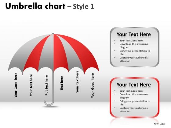 PowerPoint Presentation Designs Leadership Umbrella Chart Ppt Slides