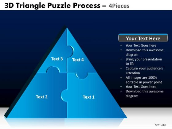 PowerPoint Presentation Designs Process Triangle Puzzle Ppt Themes