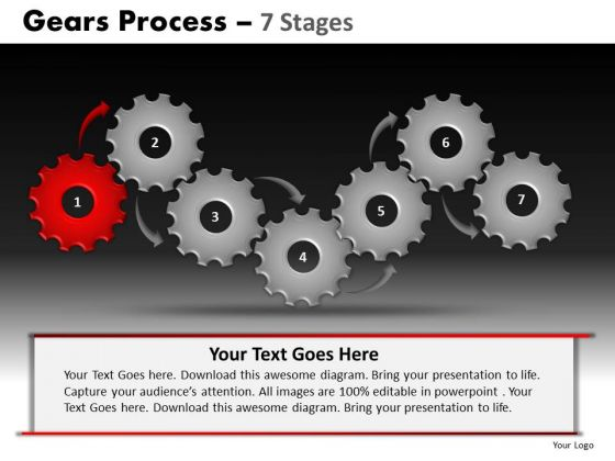 PowerPoint Presentation Designs Sales Gears Process Ppt Slide