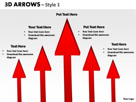 PowerPoint Presentation Designs Strategy Arrows Ppt Template