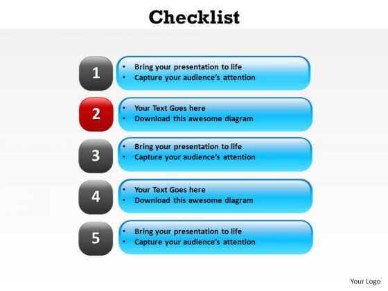 PowerPoint Presentation Designs Strategy Checklist Ppt Slide Designs