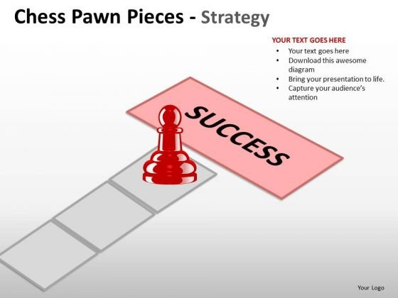 PowerPoint Presentation Designs Strategy Chess Pawn Ppt Backgrounds
