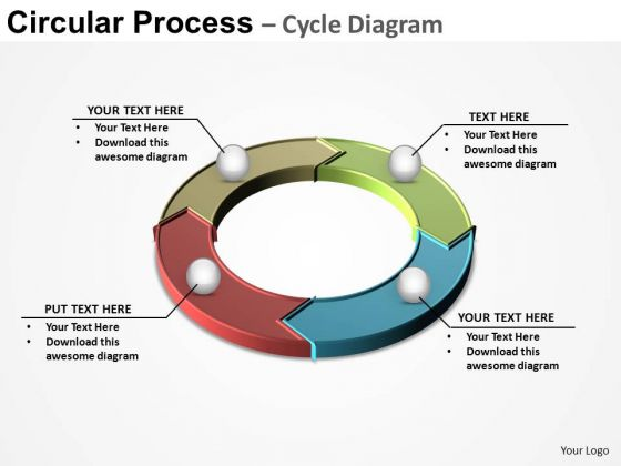 PowerPoint Presentation Designs Strategy Circular Process