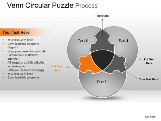 PowerPoint Presentation Designs Strategy Circular Puzzle Ppt Slides