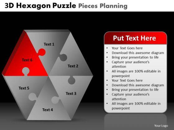 PowerPoint Presentation Designs Strategy Hexagon Puzzle Ppt Design Slides