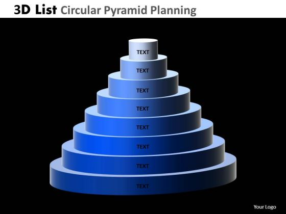 PowerPoint Presentation Designs Success Circular Pyramid Ppt Slide